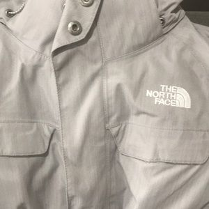 The North Face Jackets & Coats - Warm Light Grey North Face Belted Ski Jacket